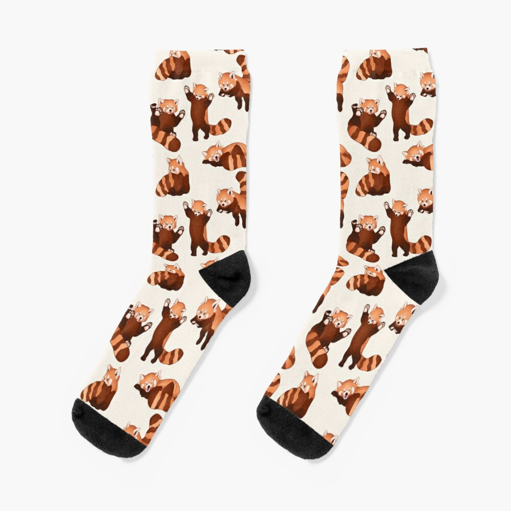 Red Panda Pattern Socks