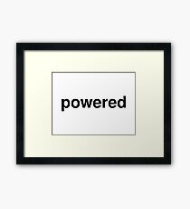 powered Framed Print