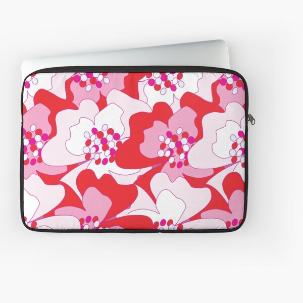 Red Passion Flowers Laptop Sleeve