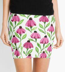 Pink Cone Flowers Mini Skirt