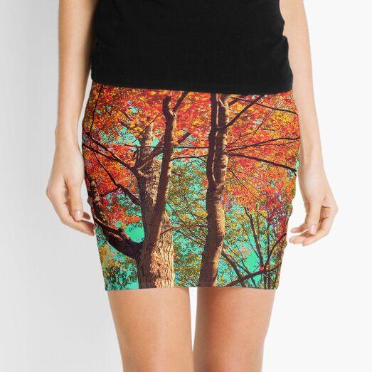 fall skies II Mini Skirt