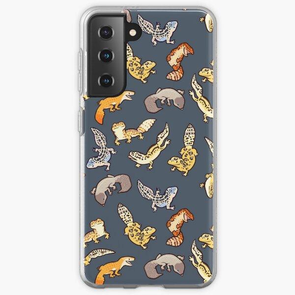 chub geckos in dark grey Samsung Galaxy Soft Case