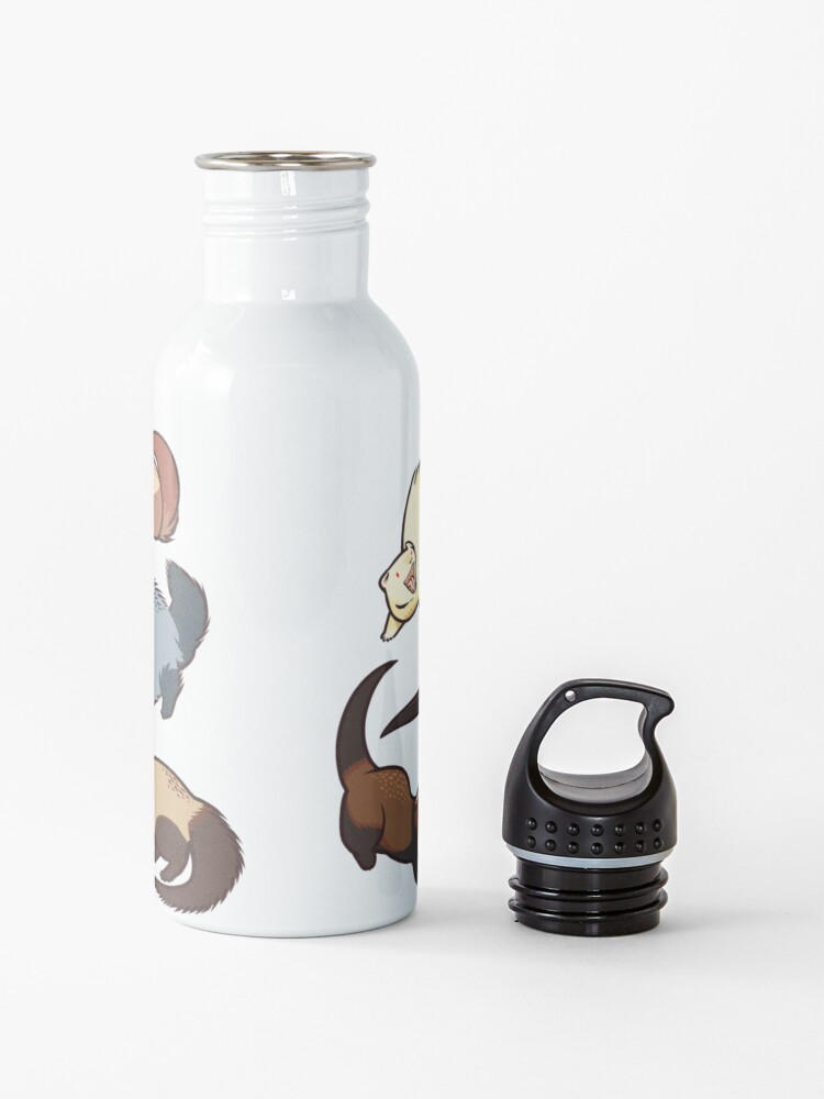 Alternate view of cat snakes in blue Water Bottle