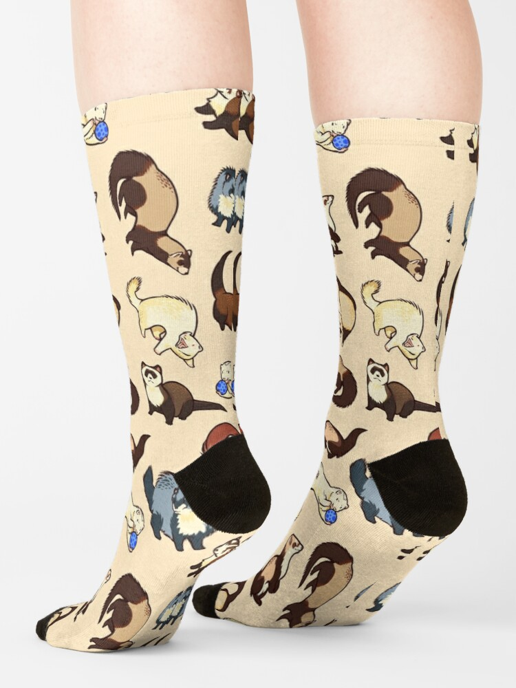 Alternate view of cat snakes Socks