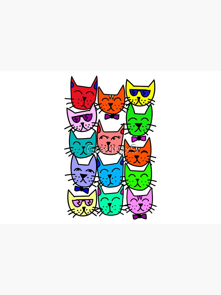 Colorful Rainbow Cats by Gravityx9