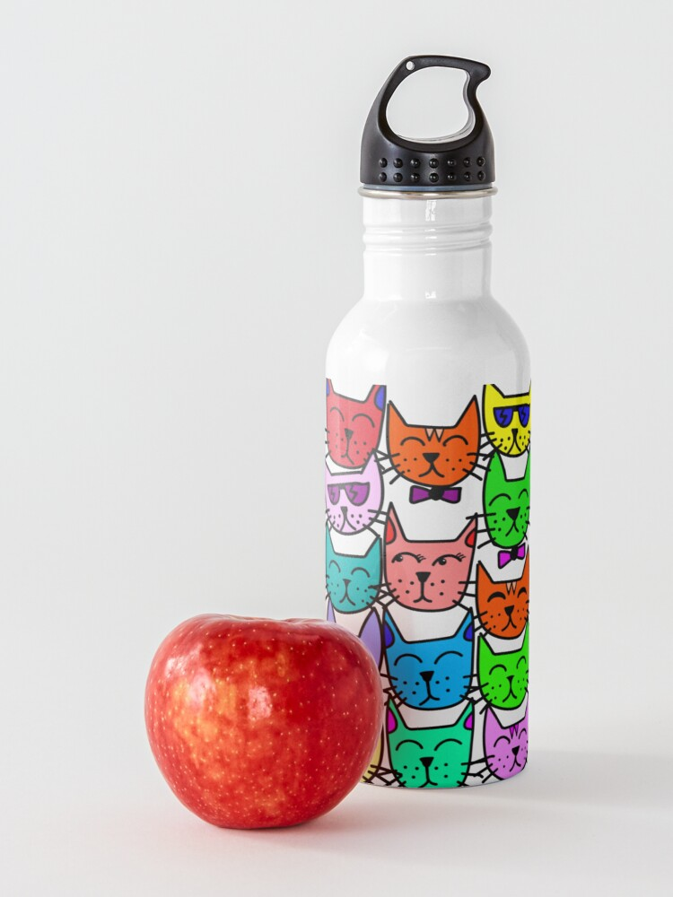 Alternate view of Colorful Rainbow Cats Water Bottle