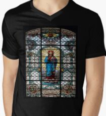 Votive Stained Glass Window Mens V-Neck T-Shirt