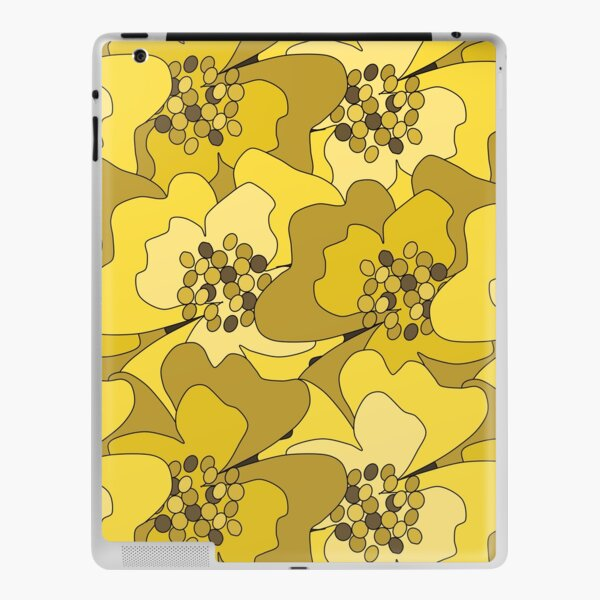 Yellow Ochre Passion Flowers iPad Skin