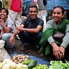 sunday market. gangtok, sikkim von tim buckley | bodhiimages