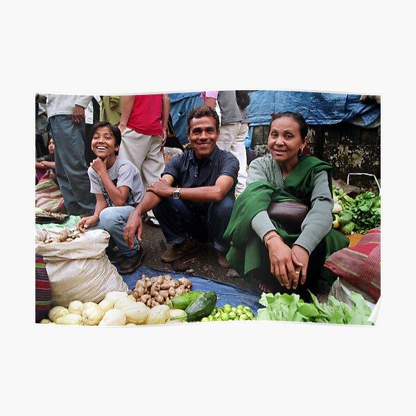 sunday market. gangtok, sikkim Poster