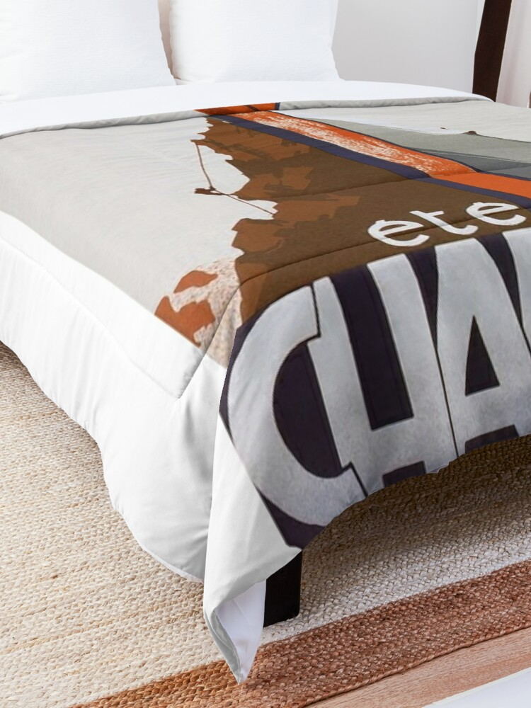 Alternate view of Chamonix, Mont Blanc, France, Vintage Ski Poster Comforter