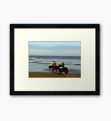 On the Beach #3 Framed Print