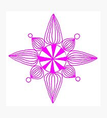 simple star neon pink Photographic Print