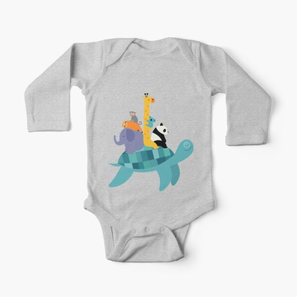 Travel Together Long Sleeve Baby One-Piece