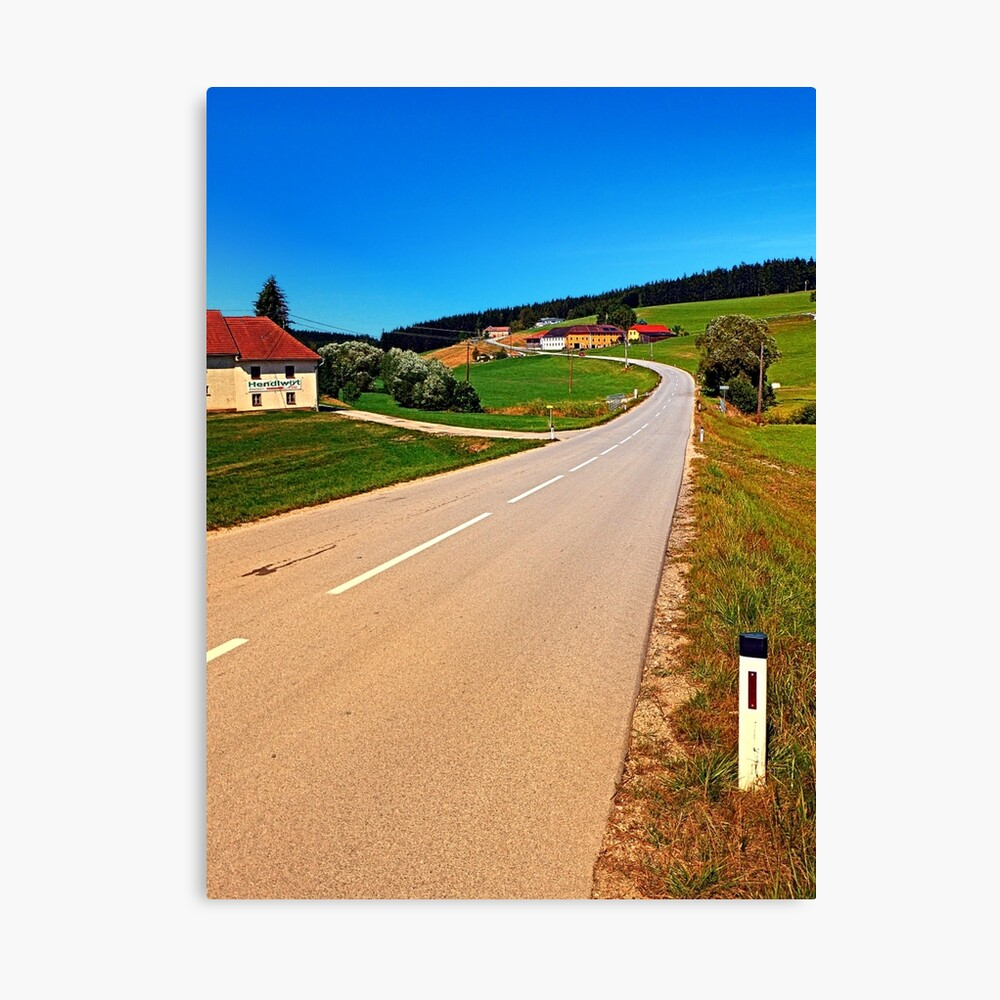 A long road to the border Canvas Print