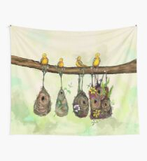 Oriole Nests - No place like home (Rainbow) Wall Tapestry