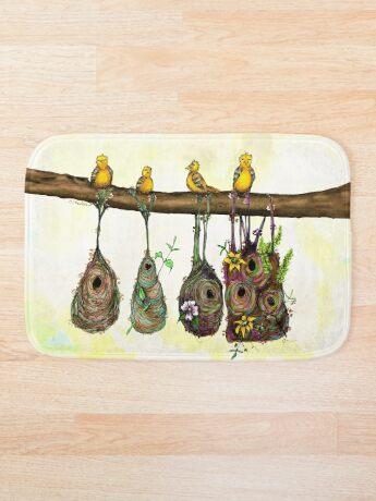 Oriole Nests - No place like home (Rainbow) Bath Mat