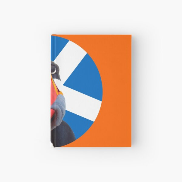 @PuffinMacHuffy goes patriotic with Scottish flag 2 Hardcover Journal