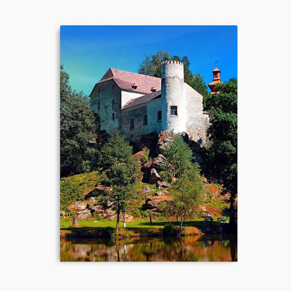 Waldenfels castle, upon the pond Canvas Print