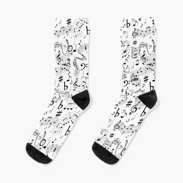 Music, Musical Notes Socks