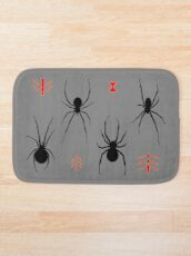 Latrodectus Black Widow spider pattern Bath Mat