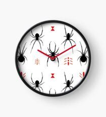 Latrodectus Black Widow spider pattern Clock