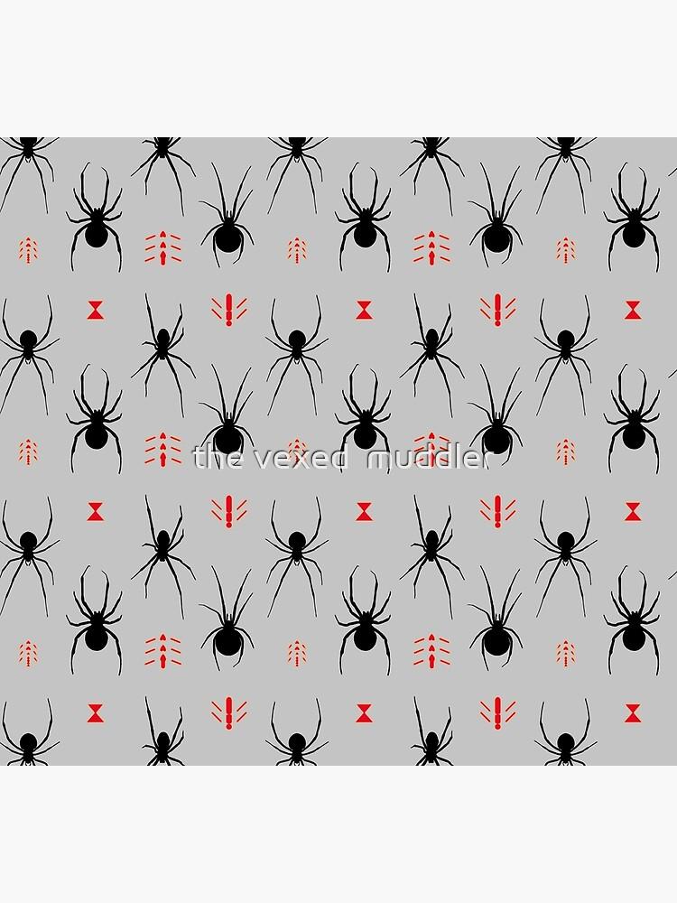 Latrodectus Black Widow spider pattern by thevexedmuddler