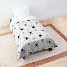 Latrodectus Black Widow spider pattern Comforter