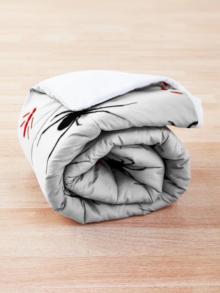 Alternate view of Latrodectus Black Widow spider pattern Comforter