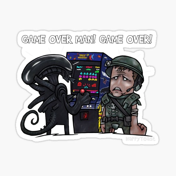 GAME OVER MAN! GAME OVER! Sticker