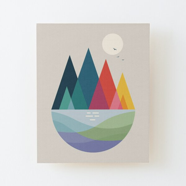 Somewhere Wood Mounted Print