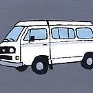 White VW Camper by vschmidt
