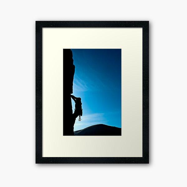 Rock climber Framed Art Print