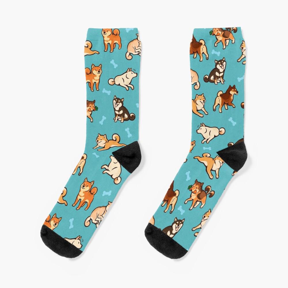 shibes in blue Socks