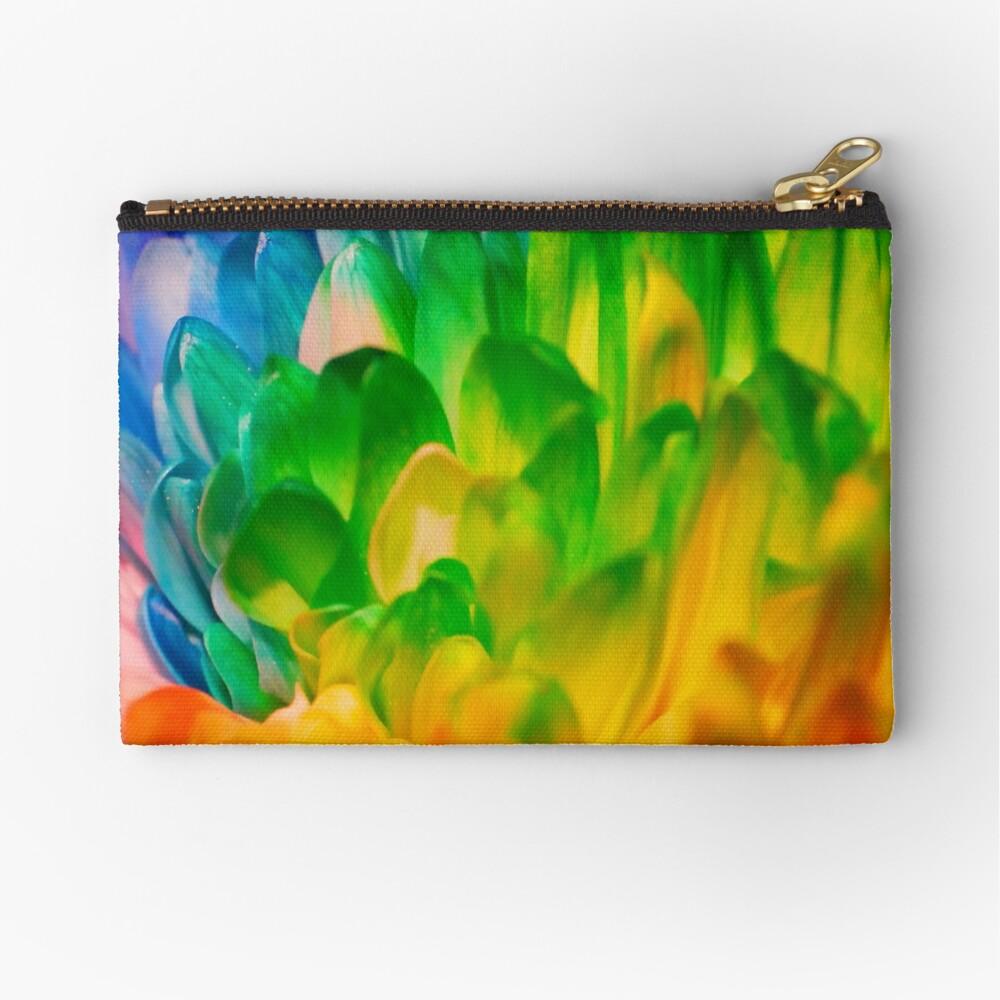 Rainbow Flower #1 Zipper Pouch