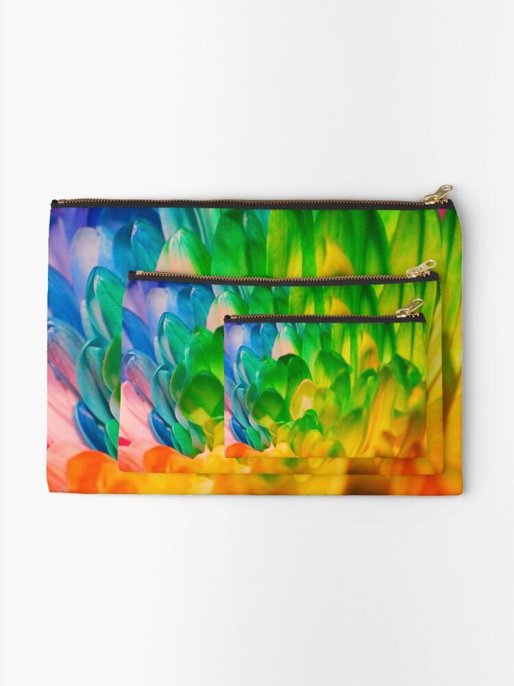 Alternate view of Rainbow Flower #1 Zipper Pouch