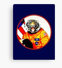Astronaut Tiger Canvas Print