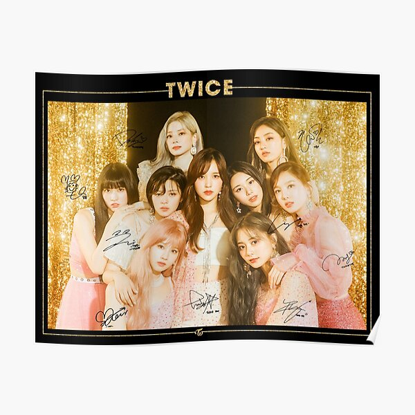TWICE 트와이스 - Feel Special  : Group (With PRINTED Autographs) | Design #3 Poster