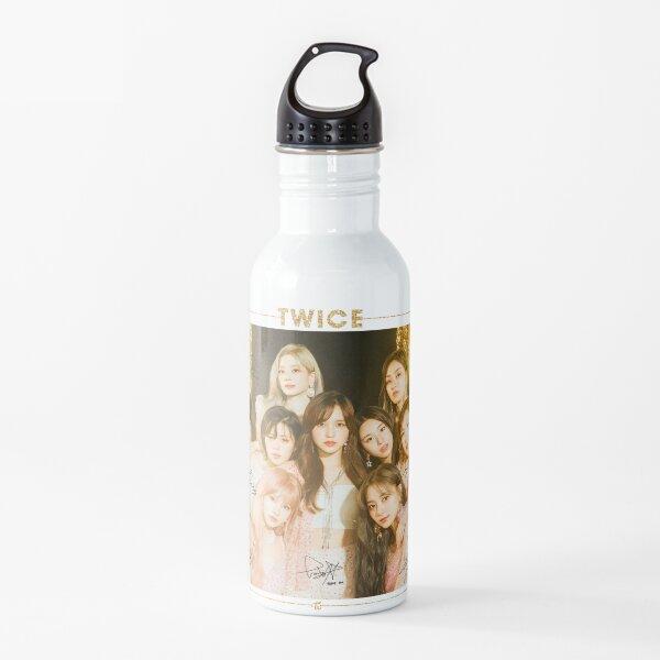TWICE 트 와이스 - Siéntete especial: Grupo (con autógrafos impresos) | Diseño # 3 Botella de agua