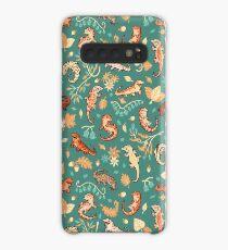 Herbst Geckos in grün Hülle & Klebefolie für Samsung Galaxy