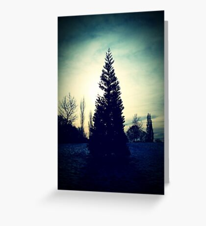 Standing in the Green Dusk Greeting Card