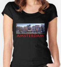 Amsterdam Street Scene Women's Fitted Scoop T-Shirt