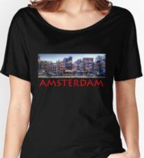 Amsterdam Street Scene Women's Relaxed Fit T-Shirt