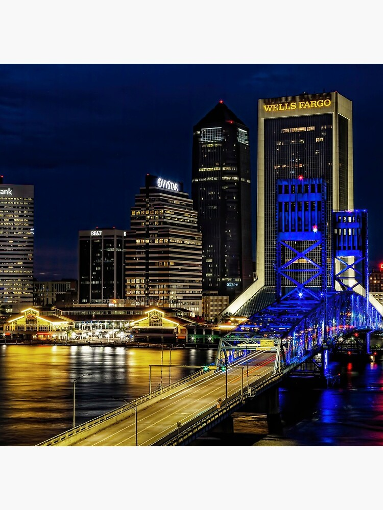 Jacksonville Nighttime Skyline by KayBrewer