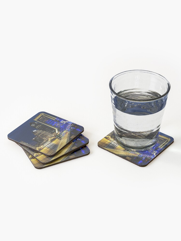 Alternate view of Jacksonville Nighttime Skyline Coasters (Set of 4)