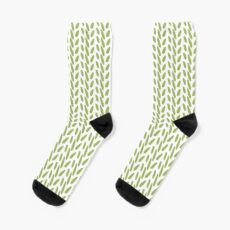 Contemporary Green Print Sock
