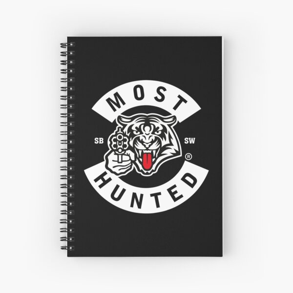 MOST HUNTED TIGER TONGUE SAVE WILDLIFE Spiral Notebook
