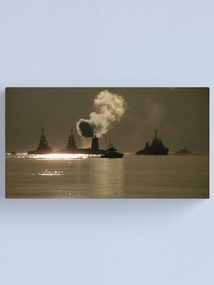 Alternate view of HMS Vanguard Canvas Print