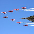 Final Vulcan flight with the Red Arrows 8 by Colin  Williams Photography