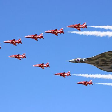 Final Vulcan flight with the Red Arrows 8 by Arrowman